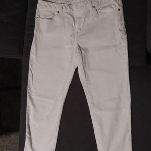 Michael Kors Cropped White Women's Jeans